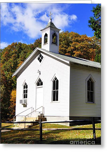 Allegheny Greeting Cards - Country Church Greeting Card by Thomas R Fletcher