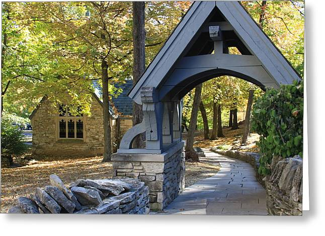 Indiana Autumn Greeting Cards - Country Churchyard Greeting Card by Andrea Lynch