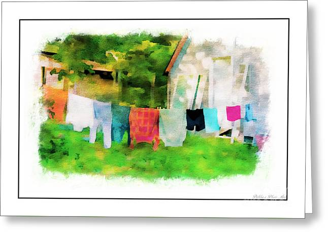 Print Photographs Greeting Cards - Country Close Line - Digital Paint 4 Greeting Card by Debbie Portwood