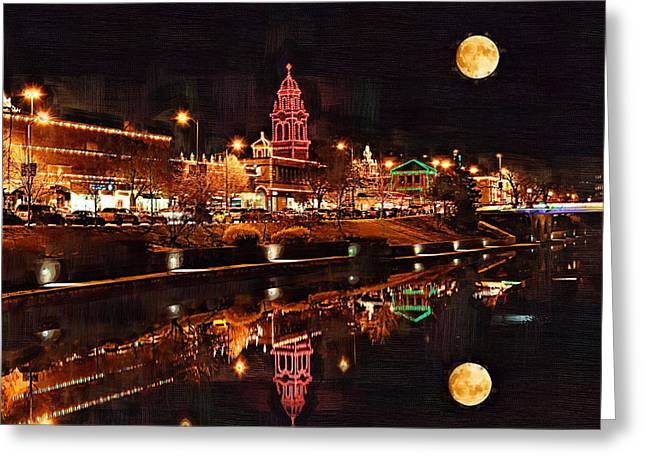 Kansas City Greeting Cards - Country Club Plaza Lights Kansas City Missouri Greeting Card by Joseph Ventura