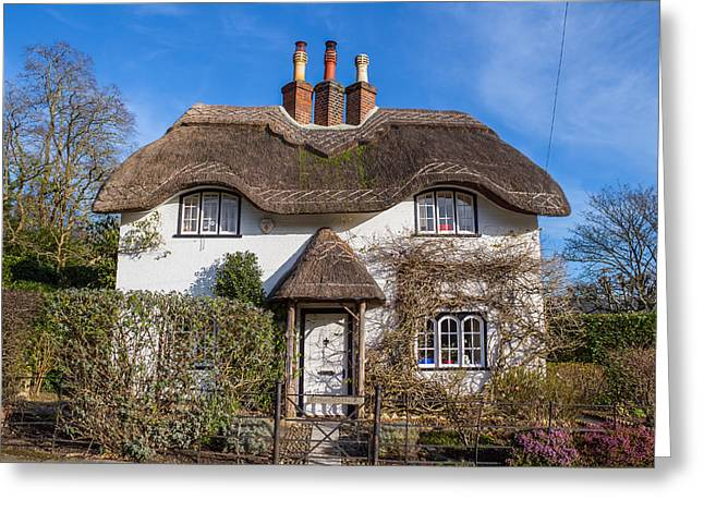 Roof Covering Greeting Cards - Country cottage Greeting Card by Colin Porteous