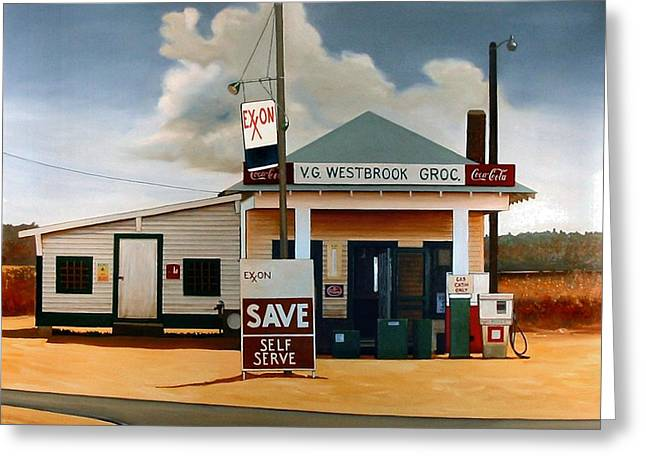 Doug Strickland Greeting Cards - Country Crossroads Greeting Card by Doug Strickland