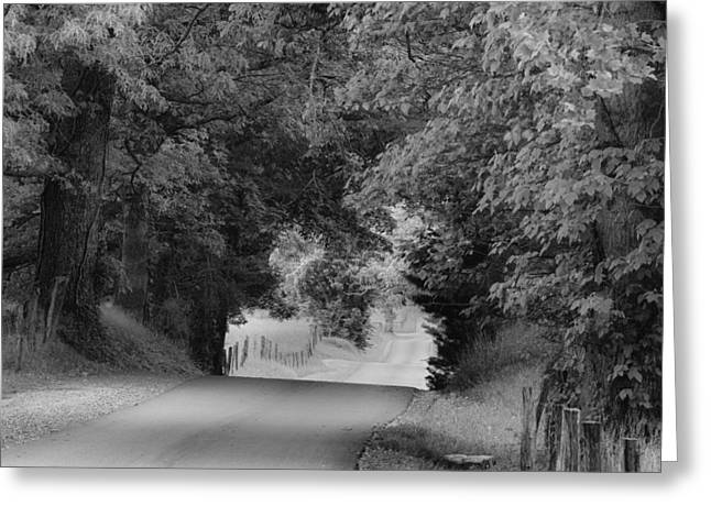 Country Drive Greeting Card by Andrew Soundarajan