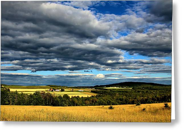 Maine Agriculture Greeting Cards - Country Farm Greeting Card by Gary Smith
