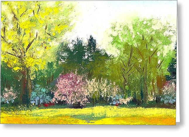 Country Garden Greeting Card by David Patterson