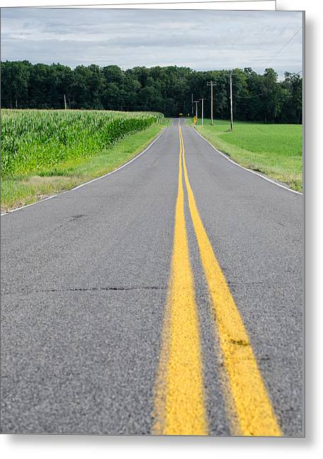 Scenic Drive Greeting Cards - Country Highway Greeting Card by Matt Hammerstein