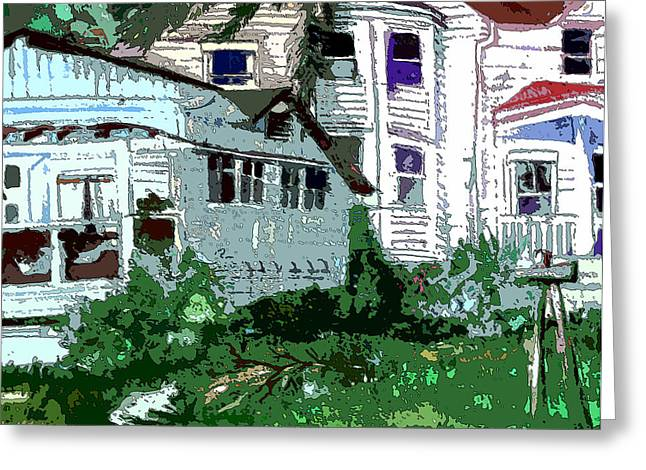 Wooden Building Greeting Cards - Country Home Greeting Card by Mindy Newman