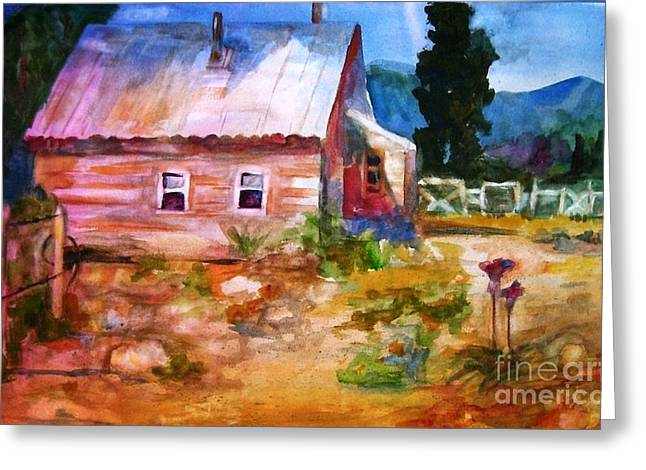 Country Cottage Greeting Cards - Country house Greeting Card by Frances Marino