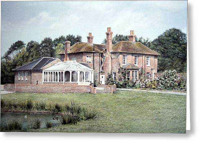 Commissions Pastels Greeting Cards - Country House in England Greeting Card by Rosemary Colyer