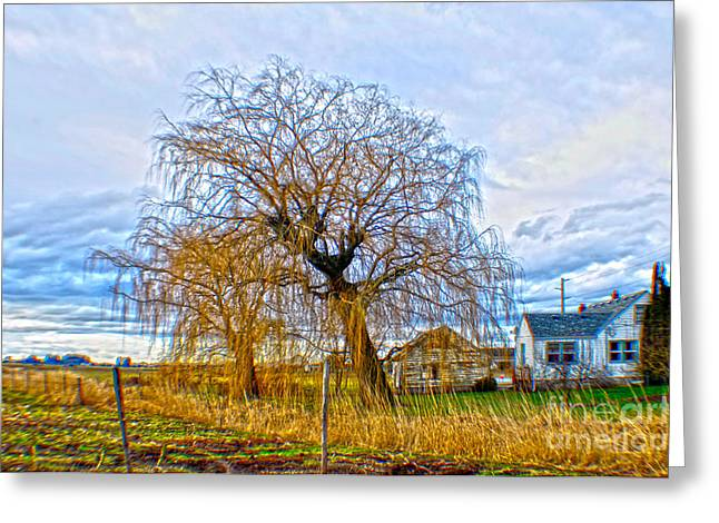 Clayton Greeting Cards - Country Life Artististic Rendering Greeting Card by Clayton Bruster