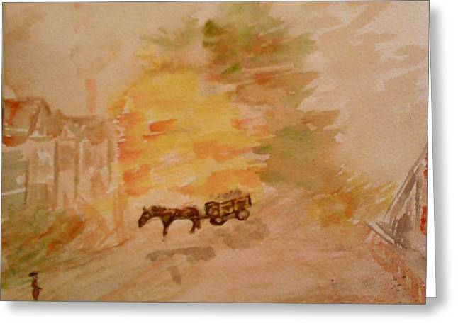 Country Life Greeting Card by Paula Maybery