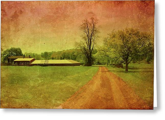 Country Dirt Roads Digital Greeting Cards - Country Living - Bayonet Farm Greeting Card by Angie Tirado