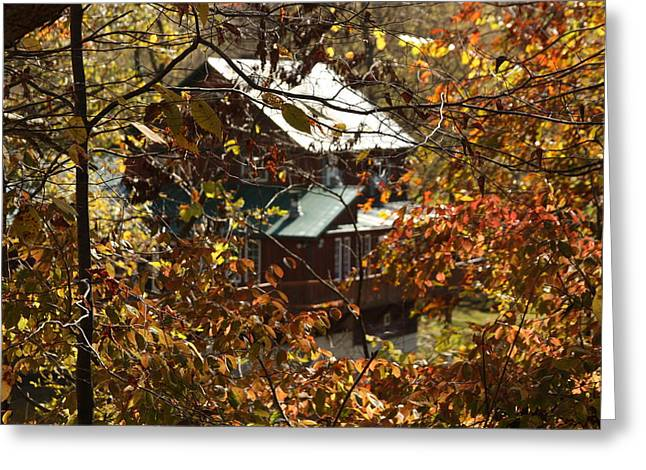 Indiana Autumn Mixed Media Greeting Cards - Country Living Greeting Card by Bruce McEntyre