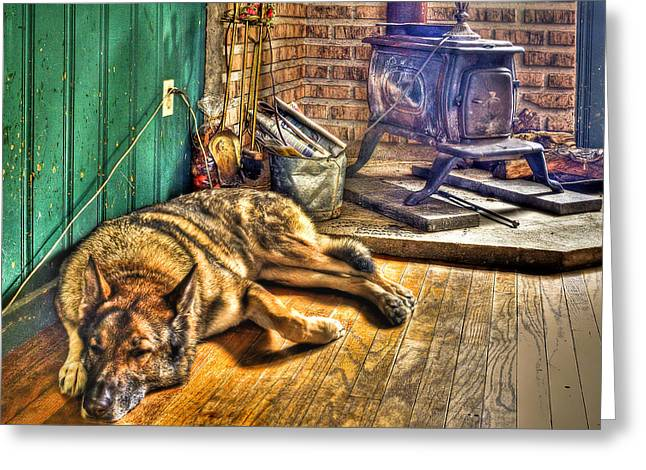 Dog House Greeting Cards - Country Living Greeting Card by Evelina Kremsdorf