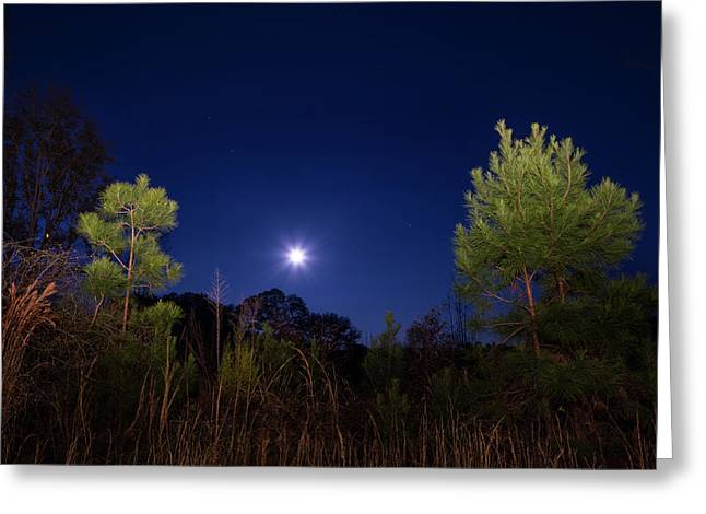 Country Moon Greeting Card by Mark Andrew Thomas