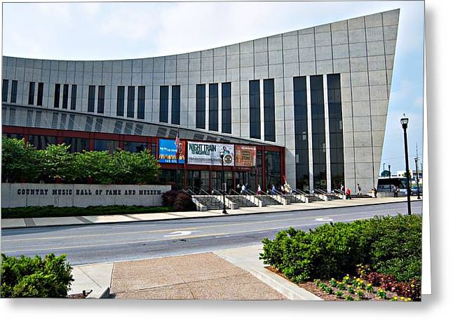Nashville Songwriters Hall Of Fame Greeting Cards - Country Music Hall of Fame Nashville Greeting Card by Bob Pardue
