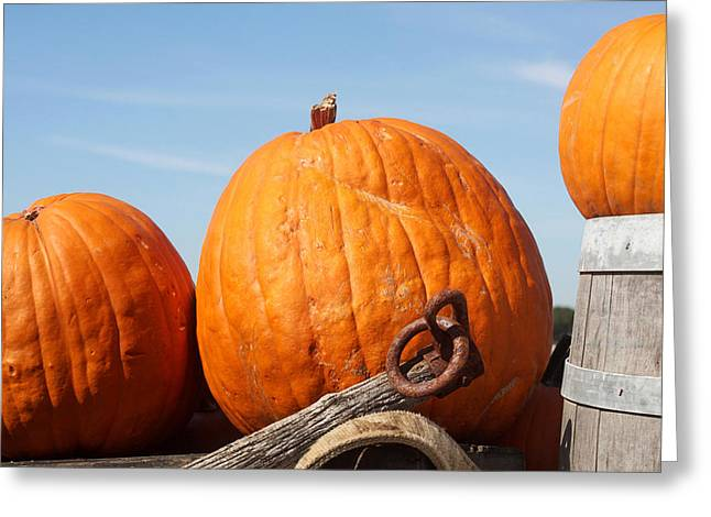 Wagon Sales Greeting Cards - Country Pumpkins Greeting Card by Art Block Collections