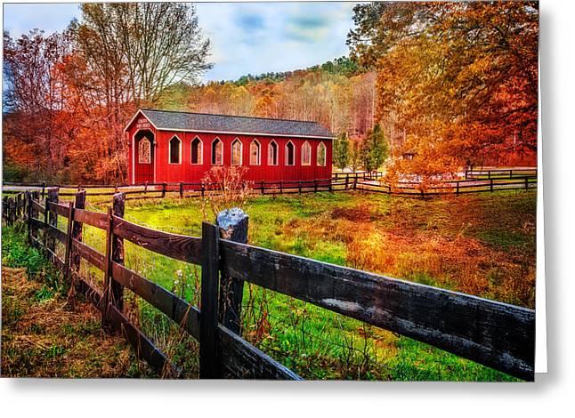 Country Red Greeting Card by Debra and Dave Vanderlaan