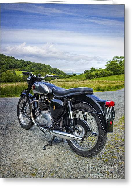 Peaceful Scene Greeting Cards - Country Ride Greeting Card by Ian Mitchell