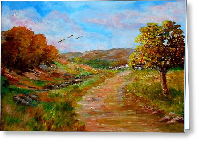 Country Road 2 Greeting Card by Constantinos Charalampopoulos