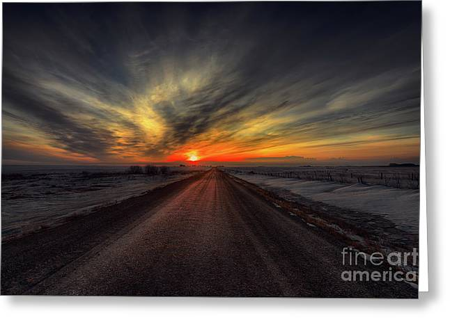 Country Road Dawn Greeting Card by Ian McGregor