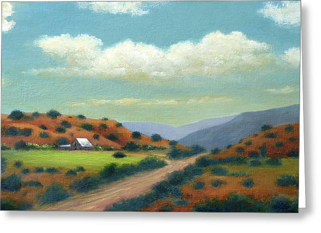 Country Road Greeting Card by Gordon Beck
