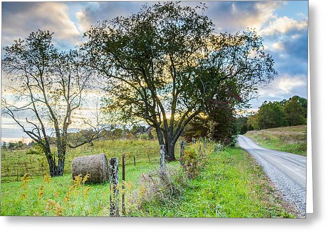 Country Road Greeting Card by Lisa Lemmons-Powers