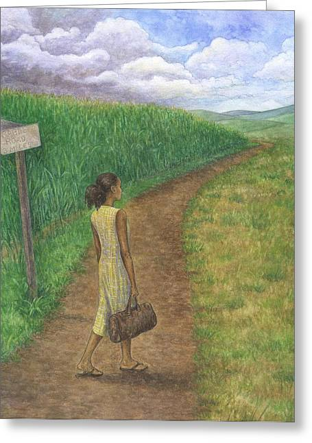 Country Road Greeting Card by Robert Casilla