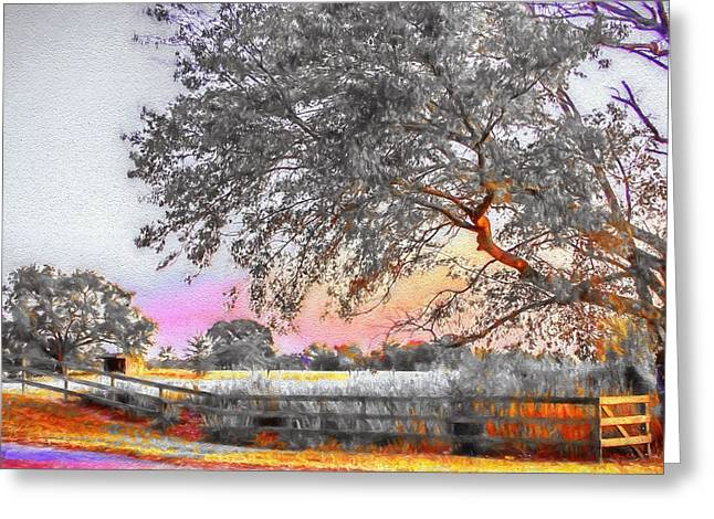 Intrigue Mixed Media Greeting Cards - Country Road - Rural Landscape Greeting Card by Barry Jones