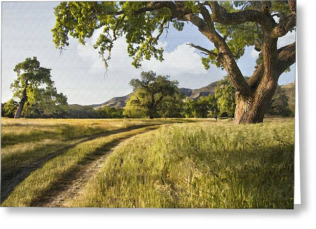 Best Sellers -  - Reserve Greeting Cards - Country Road Greeting Card by Sharon Foster