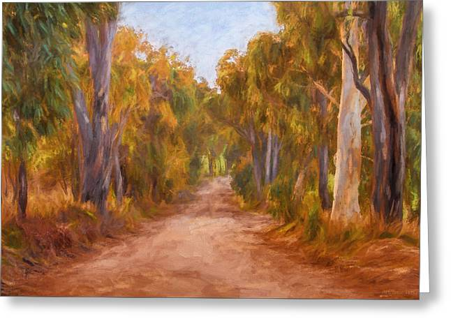 Country Roads 2  Impressionism Art Greeting Card by Michelle Wrighton