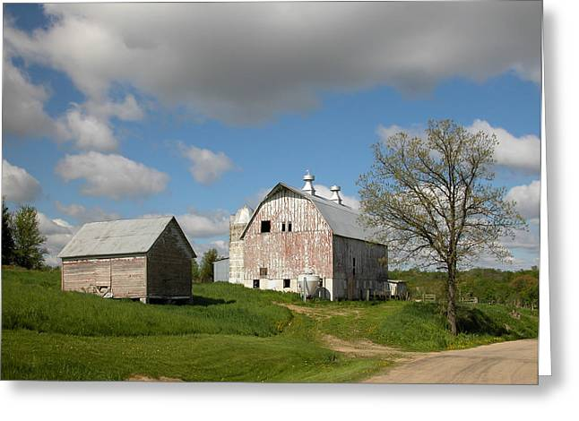 Outbuildings Greeting Cards - Country Roads Greeting Card by Gerald DeBoer
