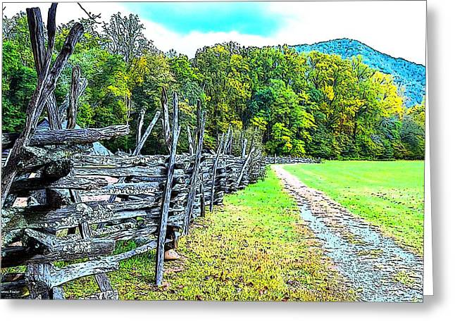Recently Sold -  - Smokey Mountain Drive Greeting Cards - Country Roads Greeting Card by James Fowler