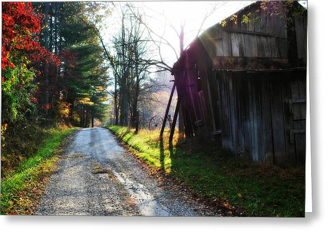 Country Roads Take Me Home Greeting Card by Chastity Hoff
