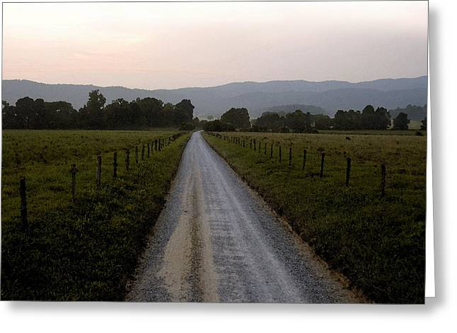 Country Dirt Roads Digital Greeting Cards - Country roads take me home Greeting Card by David Lee Thompson