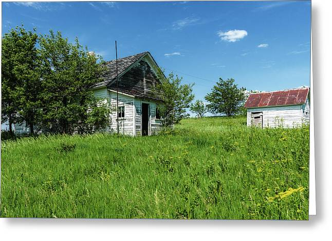 Country School Greeting Card by Edward Peterson