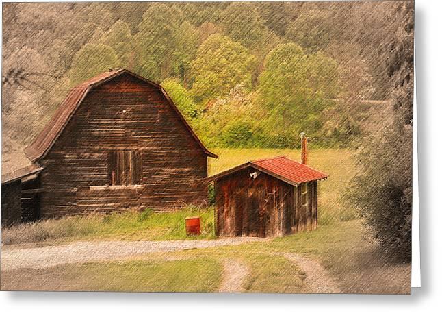 Country Shack Greeting Card by Itai Minovitz