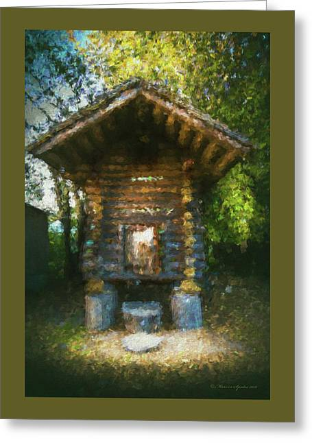Country Storage Bin Greeting Card by Marvin Spates