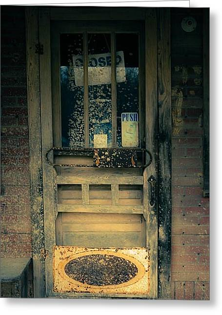 Store Fronts Greeting Cards - Country Store Door Greeting Card by Eric Nelson