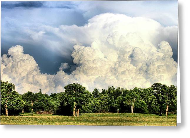 Storm Chasing Greeting Cards - Country Storm Greeting Card by Karen M Scovill