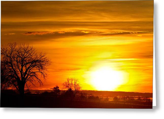 Sunset Prints Greeting Cards - Country Sunrise 1-27-11 Greeting Card by James BO  Insogna