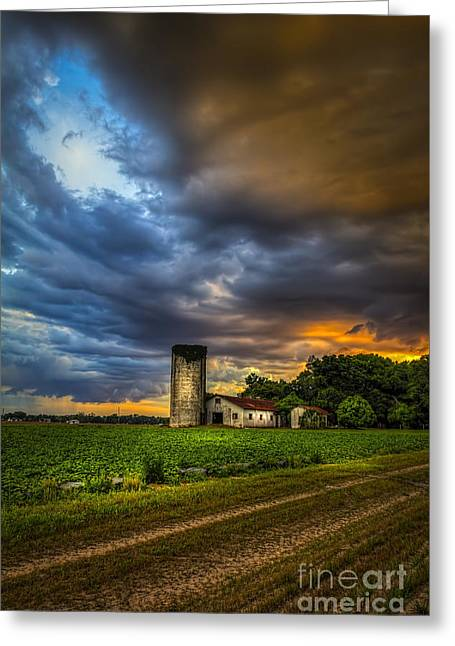 Silo Greeting Cards - Country Tempest Greeting Card by Marvin Spates