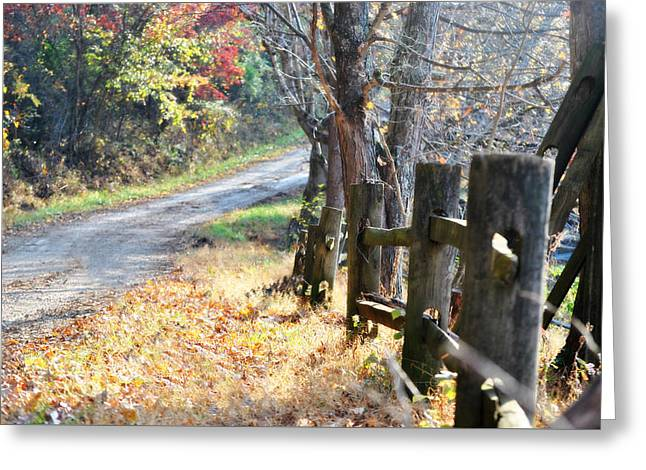 Country Wv Road Greeting Card by Chastity Hoff