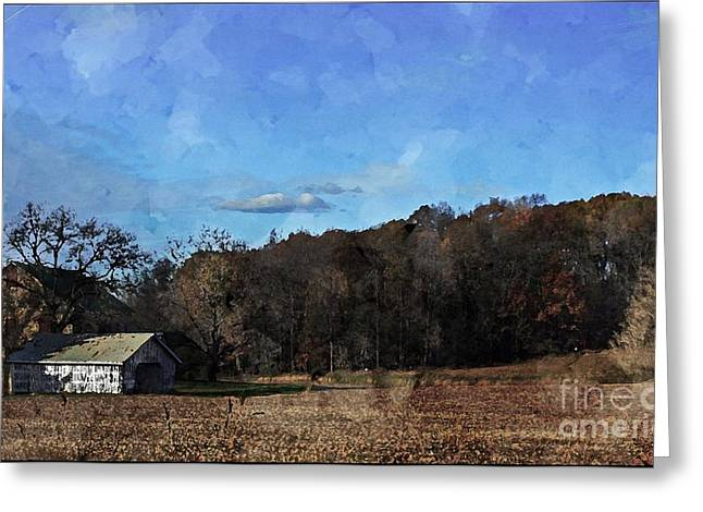 Barn Door Greeting Cards - Countryside Greeting Card by Marcia Lee Jones