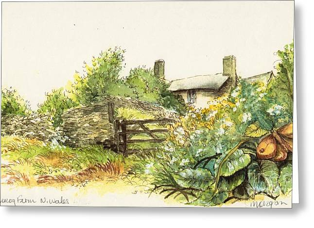 Countryside Mixed Media Greeting Cards - Countryside Greeting Card by Morgan Fitzsimons