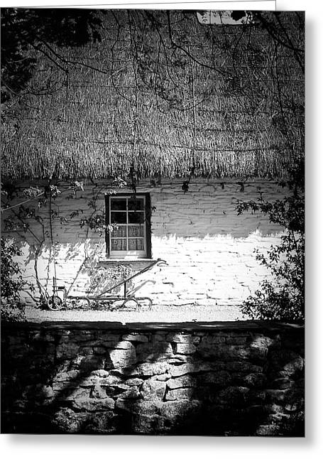 Thatch Greeting Cards - County Clare Cottage Ireland Greeting Card by Teresa Mucha