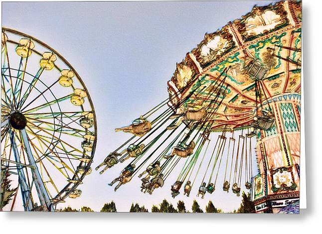 Sonoma County Digital Greeting Cards - County Fair Greeting Card by John K Woodruff