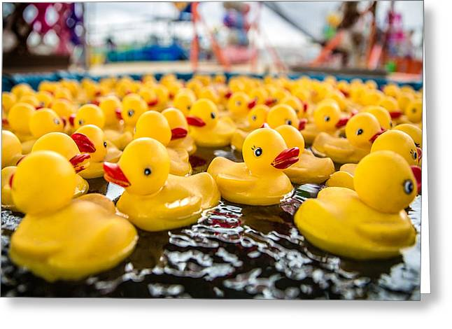 County Fair Rubber Duckies Greeting Card by Todd Klassy