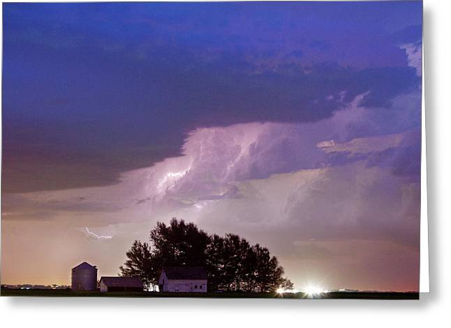 County Line Northern Colorado Lightning Storm Greeting Card by James BO  Insogna