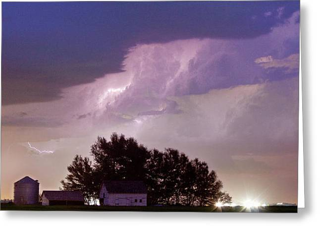 County Line Northern Colorado Lightning Storm Panorama Greeting Card by James BO  Insogna